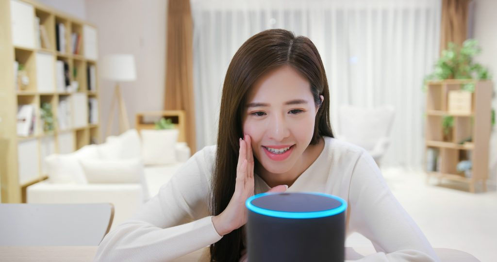 woman-part-of-brand-community-on-smart-assistant