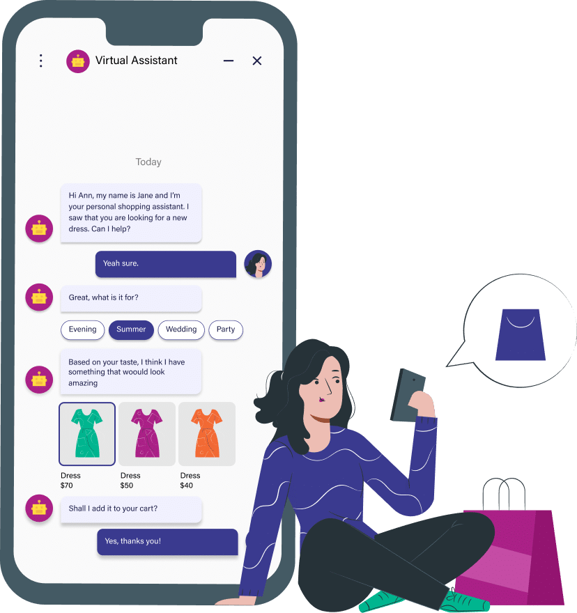 AI Powered Sales Assistant illustration